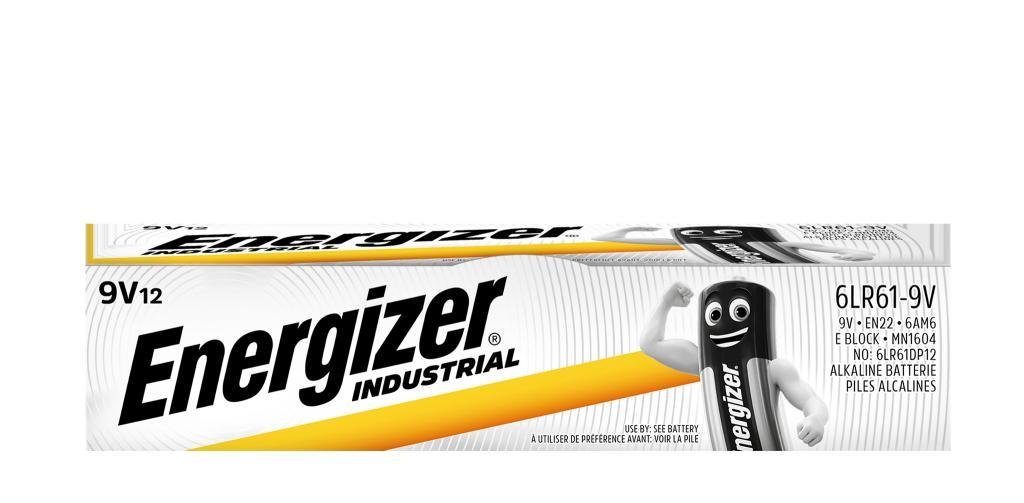 6LR61 ENERGIZER INDUSTRIAL 12ER Energizer Alkali-Mangan Batterie