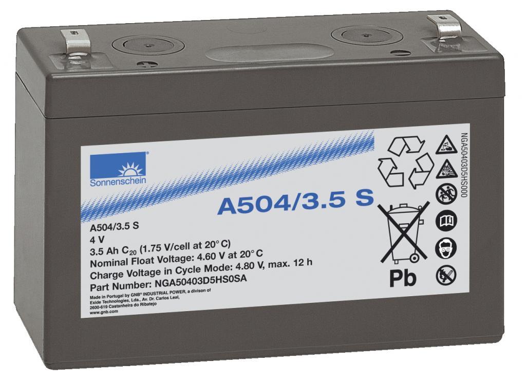 A504/3,5S Exide wartungsfr. Gel Bleibatterie