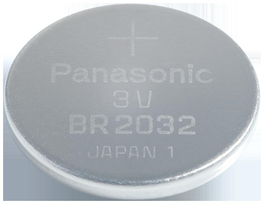 BR-2032-1HF Panasonic Lithium Knopfzelle