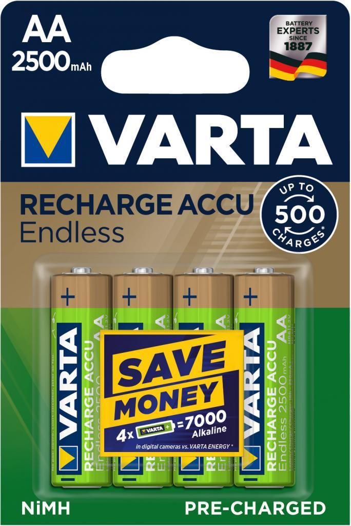 HR-AA/2500/4BP VARTA Recharge Accu Endless Varta 56686