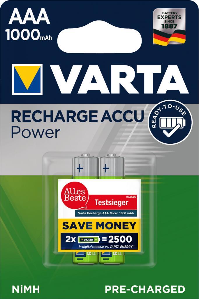 HR-AAA/1000/2BP VARTA Ready to use NiMH Akku Varta 5703