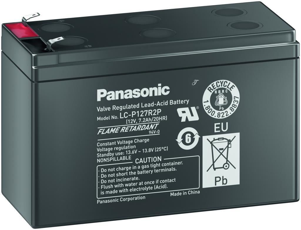 LC-P127R2P Panasonic wartungsfr. AGM Bleibatterie