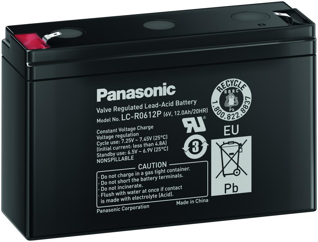 LC-R0612P Panasonic wartungsfr. AGM Bleibatterie