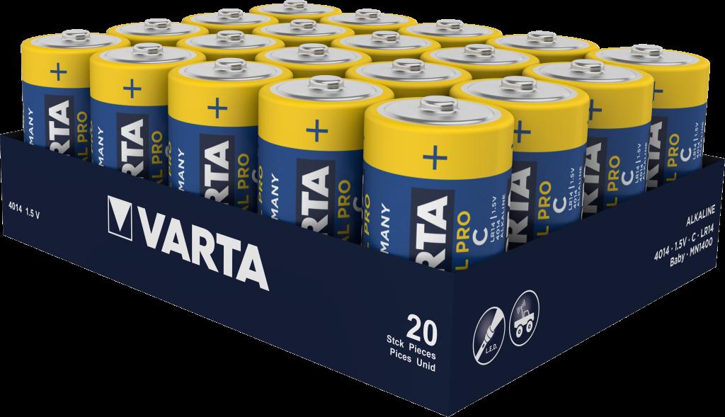 LR14 VARTA INDUSTRIAL 20ER Varta Alkali-Mangan Batterie