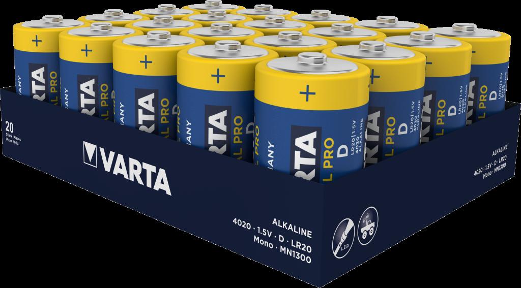 LR20 VARTA INDUSTRIAL 20ER Varta Alkali-Mangan Batterie