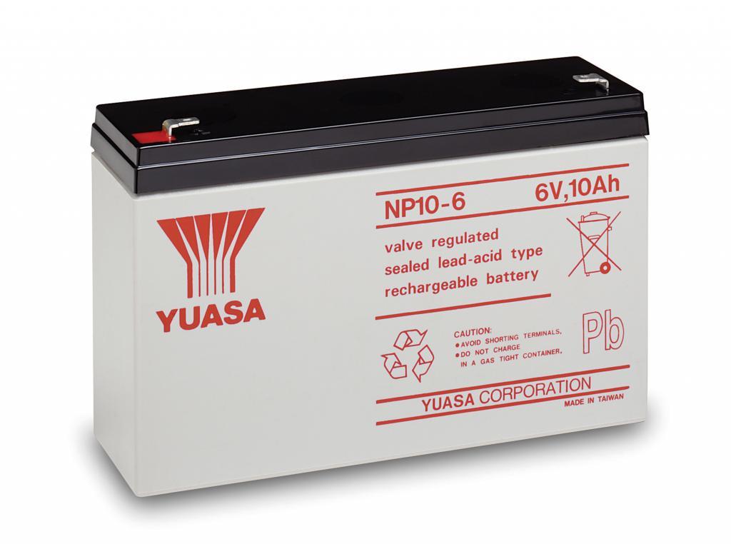 NP10-6 Yuasa wartungsfr. AGM Bleibatterie