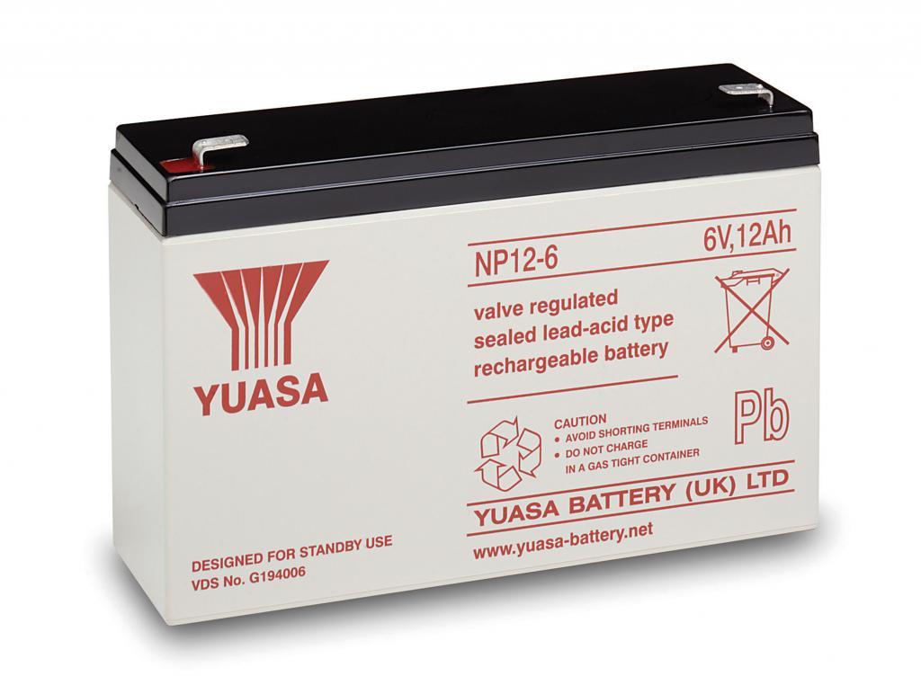 NP12-6 Yuasa wartungsfr. AGM Bleibatterie
