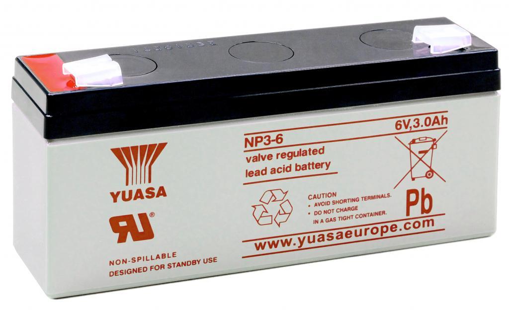 NP3-6 Yuasa wartungsfr. AGM Bleibatterie