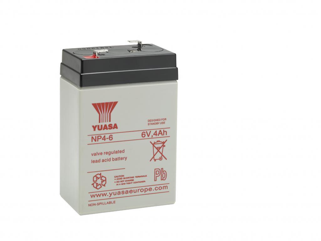 NP4-6 Yuasa wartungsfr. AGM Bleibatterie