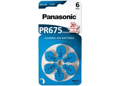 PR-675H Zink Luft Batterie  1,4V, 605mAh