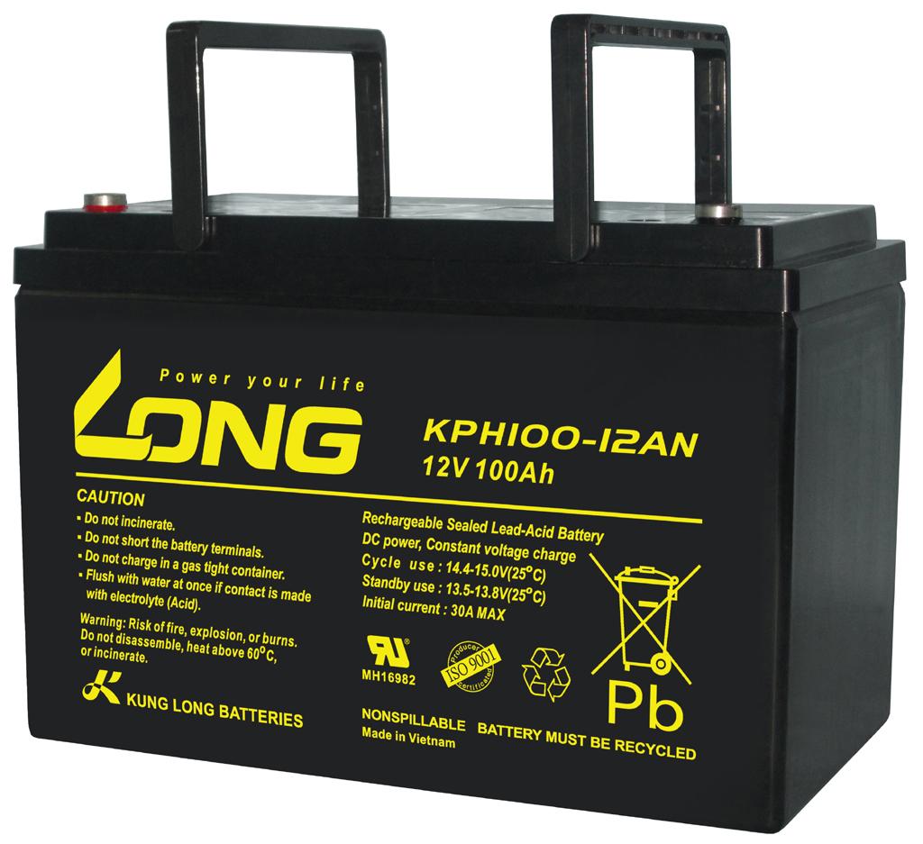 WP-KPH100-12AN-M Kung Long wartungsfr. AGM Bleibatterie