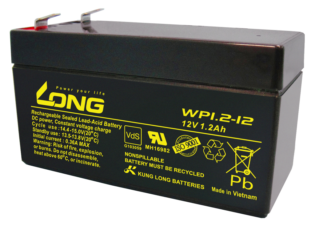WP1.2-12-M/F1(COS) Kung Long wartungsfr. AGM Bleibatterie