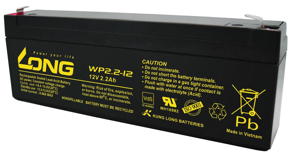 WP2.2-12-M/F1 Kung Long wartungsfr. AGM Bleibatterie