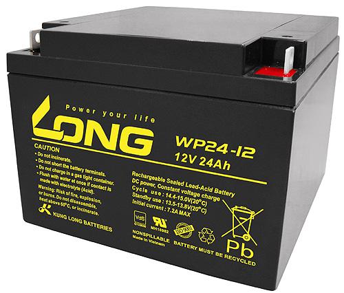 WP24-12-M Kung Long wartungsfr. AGM Bleibatterie