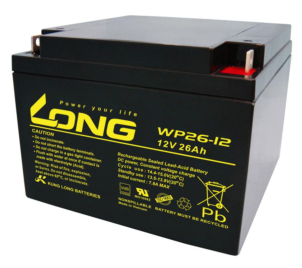 WP26-12-M Kung Long wartungsfr. AGM Bleibatterie