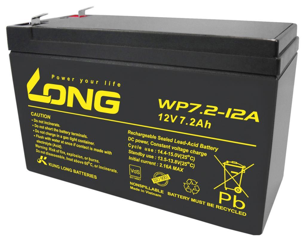 WP7.2-12A-M/F1 Kung Long wartungsfr. AGM Bleibatterie